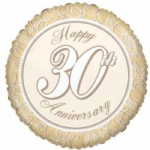 "30th ANNIVERSARY BALLOON  18""  15180-18"